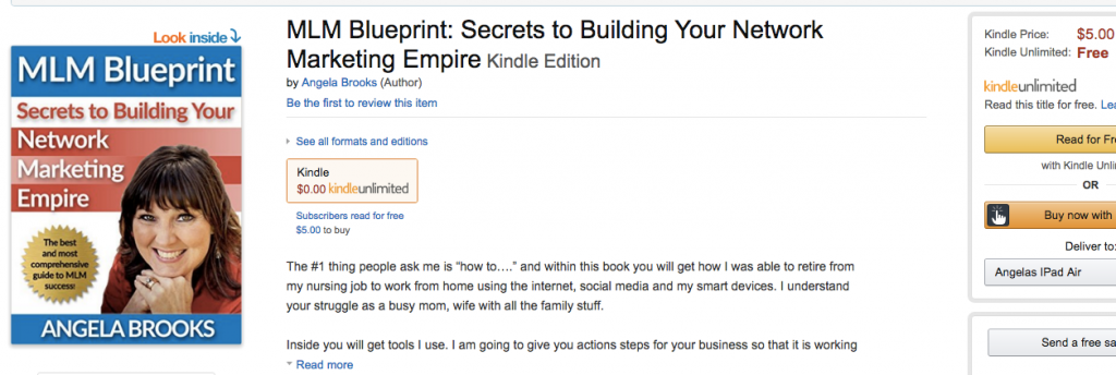 The MLM Blueprint is Live on Amazon