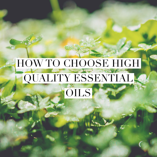 How to choose high quality essential oils
