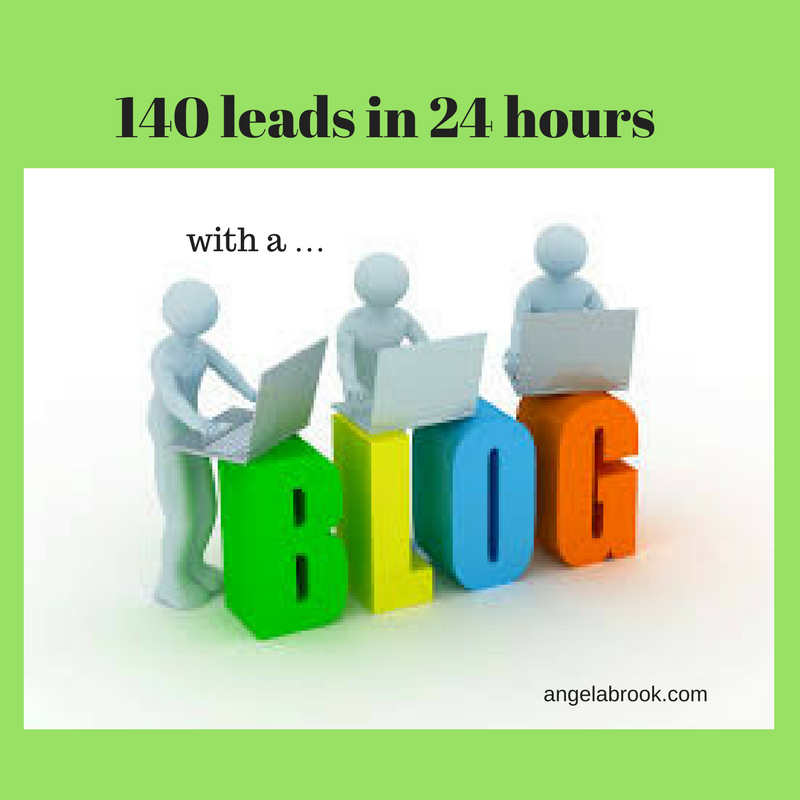 How I generated 140 leads in 24 hours for my business