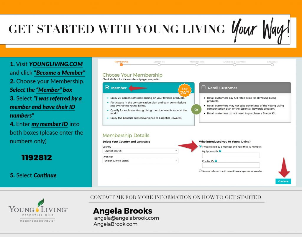 Get Started with Young Living Essential Oils YOUR way! Ask Angela Brooks