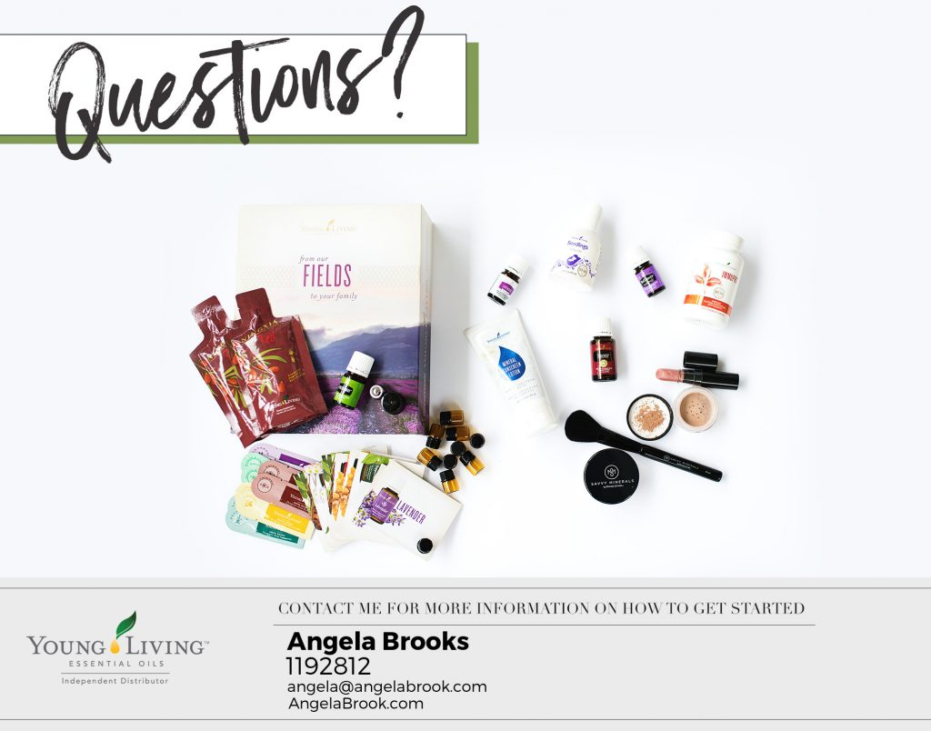 Questions about Young Living Essential Oils Ask Angela Brooks